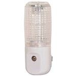 Satco 75043 - Cylinder Night Light LED Prismatic - With Photo Cell - 100,000 Life Hours - 120 Volt
