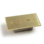 "Lew Electric SCF-1 Floor Box Flange 5 1/4"" (Shallow) Fits All Round Boxes, Single Gang - Brass"
