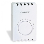 Cadet T410A-T Thermostat, Single Pole Heat - Taupe
