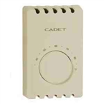 Cadet T410B-T Thermostat, 22A Double Pole Heat Only Bimetal Wall Mount - Taupe