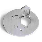 "Lew Electric TCP-2-LR-A Floor Box, 5-3/4"" Seamless Flanged Cover w/Dual Flip Lid and Duplex Mount. Plt. - Aluminum"