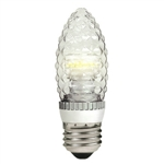 TCP - 3 Watt Dimmable LED - Decorative Torpedo - Faceted Straight Tip - 3000K Warm White - 90 Lumens - 15 Watt Equal - Medium Base - 120 Volt