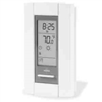 Cadet TH115 Digital Thermostat, Double Pole Heat Only Programmable Wall Mount - White