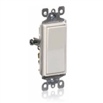 Single-Pole-AC Quiet Decorator Switches 15AMP Push-In and Side Wired 120-277V AC-Almond