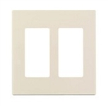 2-Gang Decorator Screwless Wallplate-Almond