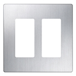 2-Gang Decorator Screwless Wallplate-White