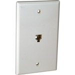 Orbit WJ-64F-W Wall Jack, Modular 1 x RJ11 Jack & 1 x F-Connectors - White