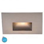 WAC Lighting - Horizontal Rectangle LEDme Step Light - 3.9W - 120 VAC - Up to 60 Lumens - Amber 610 nm Color Lens - WL-LED100-AM