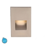 WAC Lighting - Vertical Rectangle LEDme Step Light - 3.9W - 120 VAC - Up to 63 Lumens - 3000K Warm White - WL-LED200-C
