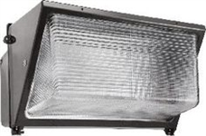 Wp3H250Qt Wallpack 250W Mh Qt Hpf Glass Lens Plus Lamp Bronze