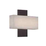 "WAC Lighting - Chicago Wall Sconce - 11"" Length - Brushed Bronze - WS-12511-BO"