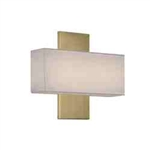 "WAC Lighting - Chicago Wall Sconce - 11"" Length - Brushed Brass - WS-12511-BR"