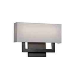 "WAC Lighting - Manhattan Wall Sconce - 15"" Length - Brushed Bronze - WS-13115-BO"