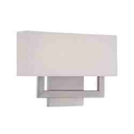"WAC Lighting - Manhattan Wall Sconce - 22"" Length - Brushed Nickel - WS-13122-BN"