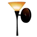 WAC Lighting - Jill Contemporary Collection Wall Sconce - Amber Shade - Rubbed Bronze - WS57LED-G512AMRB