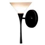 WAC Lighting - Jill Contemporary Collection Wall Sconce - White Shade - Rubbed Bronze - WS57LED-G512WTRB