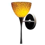 WAC Lighting - Faberg Contemporary Collection Wall Sconce - Amber Shade - Brushed Nickel - WS57LED-G541AMBN