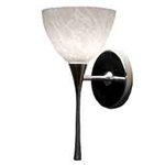 WAC Lighting - Faberg Contemporary Collection Wall Sconce - White Shade - Rubbed Bronze - WS57LED-G541WTRB