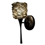 WAC Lighting - Candy Eternity Jewelry Collection Wall Sconce - Gold Shade - Rubbed Bronze - WS57LED-G544GLRB