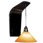 WAC Lighting - Jill Contemporary Collection Wall Sconce - Amber Shade - Chrome - WS58LED-G512AMCH