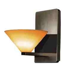WAC Lighting - Jill Contemporary Collection Wall Sconce - Amber Shade - Rubbed Bronze - WS58LED-G512AMRB