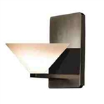 WAC Lighting - Jill Contemporary Collection Wall Sconce - White Shade - Rubbed Bronze - WS58LED-G512WTRB