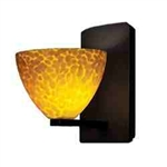 WAC Lighting - Faberg Contemporary Collection Wall Sconce - Amber Shade - Rubbed Bronze - WS58LED-G541AMRB