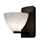 WAC Lighting - Faberg Contemporary Collection Wall Sconce - White Shade - Rubbed Bronze - WS58LED-G541WTRB