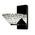 WAC Lighting - Giselle Eternity Jewelry Collection Wall Sconce - Black Ice Shade - Brushed Nickel - WS58LED-G543BIBN