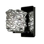 WAC Lighting - Candy Eternity Jewelry Collection Wall Sconce - Clear Shade - Brushed Nickel - WS58LED-G544CLBN