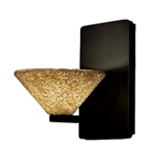 WAC Lighting - Micha Contemporary Collection Wall Sconce - Gold Shade - Brushed Nickel - WS58LED-G559GLBN