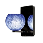 WAC Lighting - Rhea European Collection Wall Sconce - Blue Shade - Brushed Nickel - WS58LED-G599BLBN