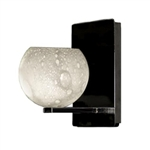 WAC Lighting - Rhea European Collection Wall Sconce - White Shade - Chrome - WS58LED-G599WTCH
