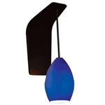 WAC Lighting - Lauren Contemporary Collection Wall Sconce - Blue Shade - Brushed Nickel - WS72-G613BL-BN