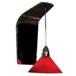 WAC Lighting - Jill Contemporary Collection Wall Sconce - Red Shade - Brushed Nickel - WS72LED-G512RDBN