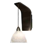 WAC Lighting - Faberg Contemporary Collection Wall Sconce - White Shade - Rubbed Bronze - WS72LED-G541WTRB