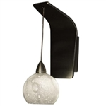 WAC Lighting - Rhea European Collection Wall Sconce - White Shade - Chrome - WS72LED-G599WTCH