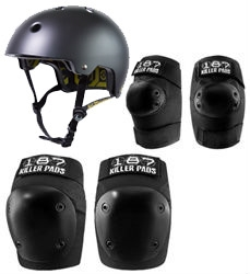 187 Killer Pads FLY Combo Pack With Helmet, Knee and Elbow Pads