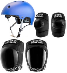 187 Killer Pads PRO Helmet, Knee and Elbow Combo Pack
