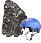 Demon JUNIOR Shield Knee/Shin and Elbow/Forearm Guard with FAKTOR Helmet