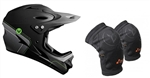 MTB Helmet and Knee Pad Combo Deal