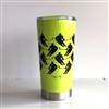 20.9 oz Hockey Player Travel Tumbler - NEONYELLOW