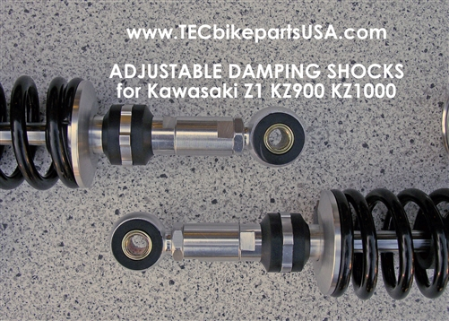 Tec Adjustable Remote Reservoir Shocks For Kawasaki Z1