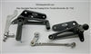 TEC Black Alloy Adjustable Triumph Rear-set Footpeg Kit
