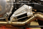 TEC Clear CNC Anodised Alloy Adjustable Triumph Rear-set Footpeg Kit