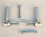 TEC Silver Alloy Passenger Footpeg Kit