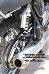 TEC Alloy Remote Reservoir Shocks for Triumph Bonneville and T100