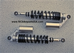 TEC Adjustable Alloy Remote Reservoir Shocks for Triumph Thruxton Scrambler