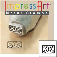 Impress Art Confederate Flag Metal Design Stamp - SGSC1510-B-6MM