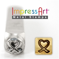 Impress Art Breast Cancer Heart Metal Design Stamp - SGSC1510-X-6MM